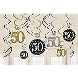 Sparkling Celebration 50 Hanging Swirls