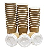 Best Cup Of Coffees - 50 Count Brown Insulated Ripple Eco-friendly Paper Hot Review