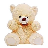 CLICK4DEAL Soft 2 Feet Long Teddy Bear - 60 Cm -Cream