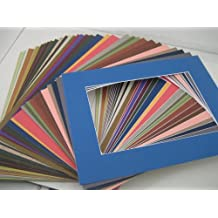 Golden State Art, MIXED COLORS 11x14 Picture Mats Matting with White Core Bevel Cut for 8x10 Pictures by Golden State Art