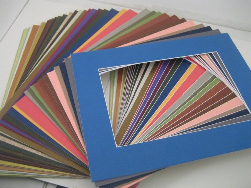 Golden State Art, Pack of 20 MIXED COLORS 11x14 Picture Mats Matting with White Core Bevel Cut for 8x10 (Photo Mat)