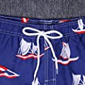 Willsa Mens Running Shorts, Seaside Spa Waterproof Fashion Boxer Loose Swim Quick Dry Large Size Pants