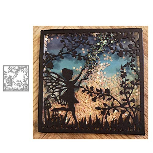 StaunchWea Jungle Fairy Elf Cutting Dies Stencil for DIY Scrapbooking Embossing Album Paper Card Silver]()