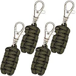 Paracord Zipper Pulls 4 Pack - Army Green | Metal Hook Thin Enough To Attach To Almost Any Zipper