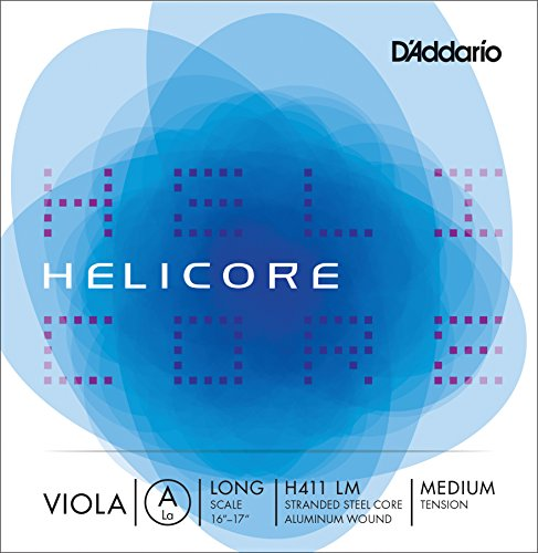 D'Addario Helicore Viola Single A String, Long Scale, Medium Tension (Long Scale)