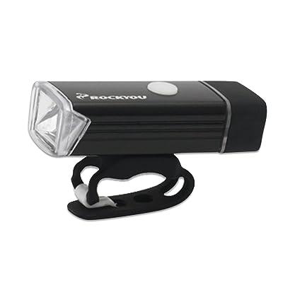 Éclairage Avant de Vélo Phare Vélo Lampe de Poche de Vélo Rechargeable USB pour Cyclisme