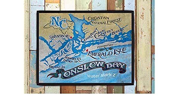 Amazon.com: Onslow Bay NC & Crystal Coast Print from an ... on richland nc map, hampstead nc map, wanchese nc map, roseboro nc map, onslow county land maps, beulaville nc map, pamlico beach nc map, brunswick beach nc map, avon beach nc map, onslow county nc courthouse, swansboro nc map, north carolina nc map, lexington nc map, topsail island nc map, new river nc map, wilmington nc map, camp johnson nc map, onslow county nc map, wilson nc map, trenton nc map,