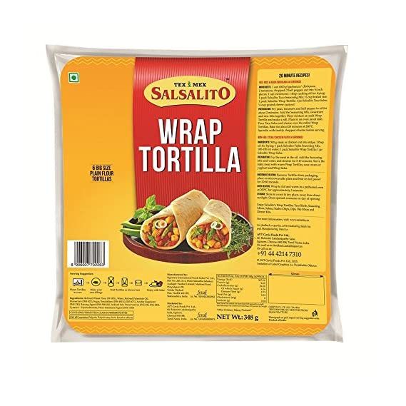 Salsalito Wrap Tortilla Original, 348g