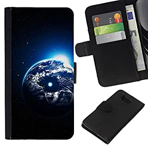 All Phone Most Case / Oferta Especial Cáscara Funda de cuero Monedero Cubierta de proteccion Caso / Wallet Case for Samsung ALPHA G850 // Earth Planet Universe Cosmos Moon Art