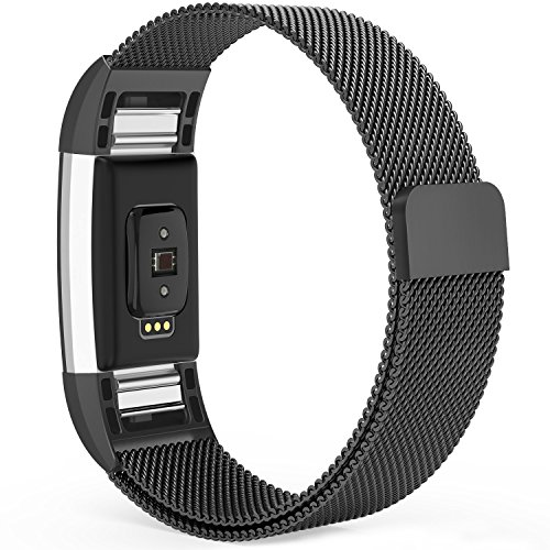 Fitbit Charge 2 Bands,Fitbit Bands Milanese Loop Stainless Steel Metal Replacement Bracelet Strap, Wristbands...