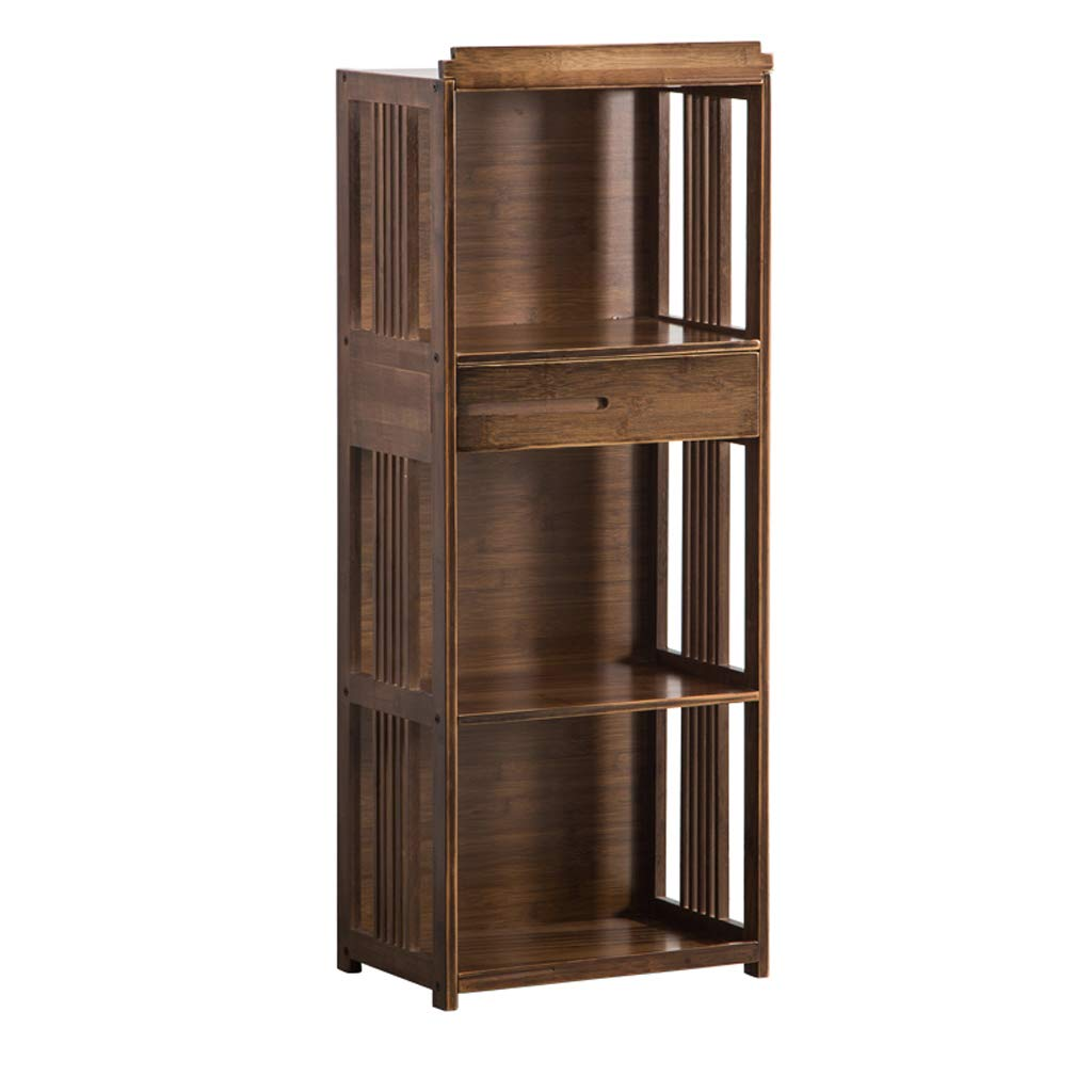 CIGONG-bookshelf Vintage Bookshelf Living Room Floor Bookcase Office Storage Rack Sundries Books Three-Tier Storage Shelf 42x28x108.5cm