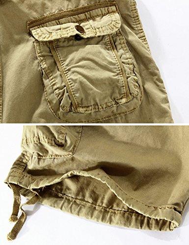 Pantaloncini Twill Cotton Abbigliamento Estate Casual Green Tasche Cargo Army Mochoose Shorts Multi Camouflage Pantaloni Uomo Outdoor Rq0FpF