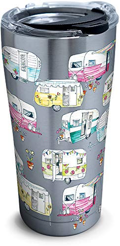 Tervis 1306210 Colorful Camper Insulated Tumbler with Hammer Lid, 20 oz Stainless Steel, - Steel Stainless Campers
