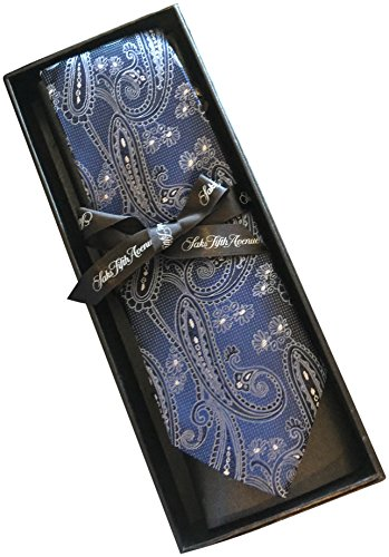 saks-fifth-avenue-striped-100-silk-mens-tie-3-wide-navy-damask