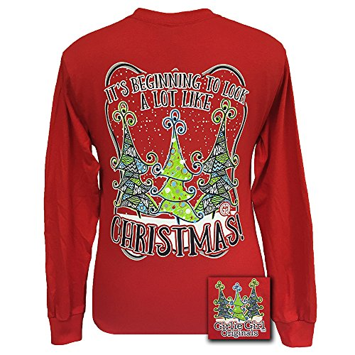 Price comparison product image Girlie Girl Originals Christmas Long Sleeve T-Shirt Red,  Small