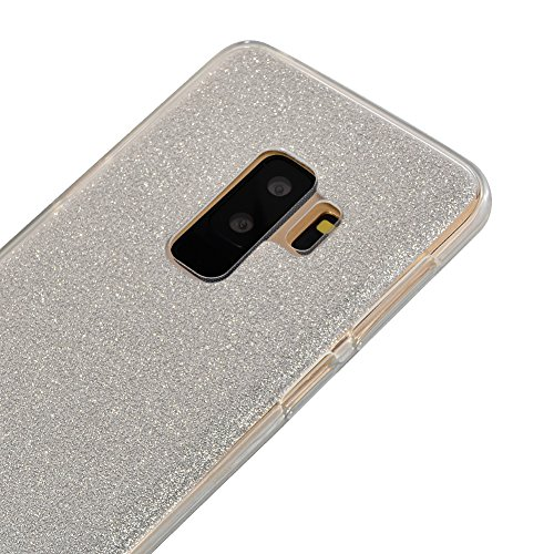Funda Doble para Samsung Galaxy S9 Plus, Vandot Bling Brillo Carcasa Protectora 360 Grados Full Body | TPU en Transparente Ultra Slim Case Cover | Protección Completa Delantera y Trasera Cocha Smartph Bling Clear