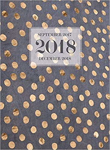tf publishing gold dots 16 month monthly planner september 2017 december 2018 18 4221