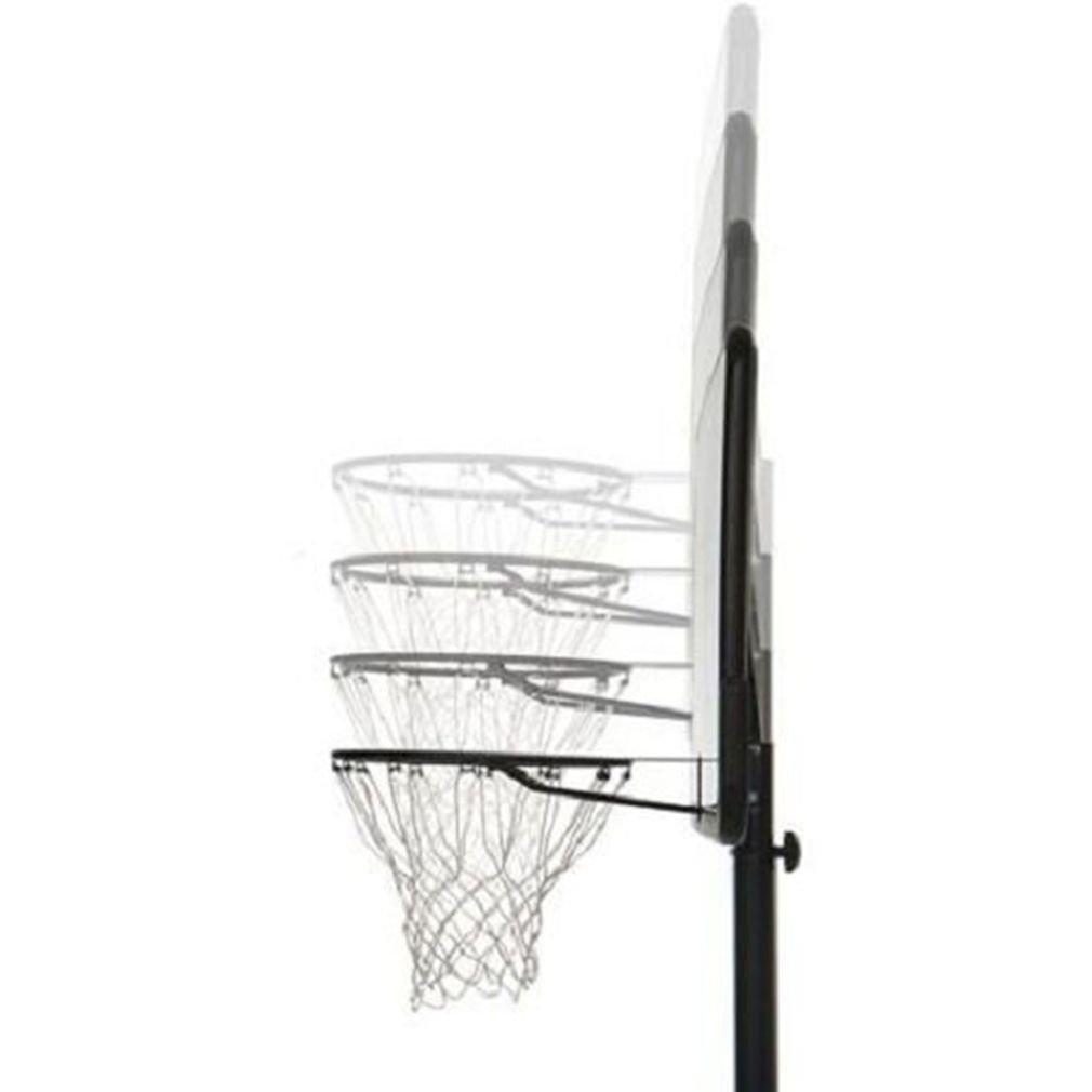 KLB Sport Pro Court Height Adjustable Portable Basketball Hoop System w/Wheels, 43 Inch Backboard (Black Coated) by KLB Sport (Image #3)