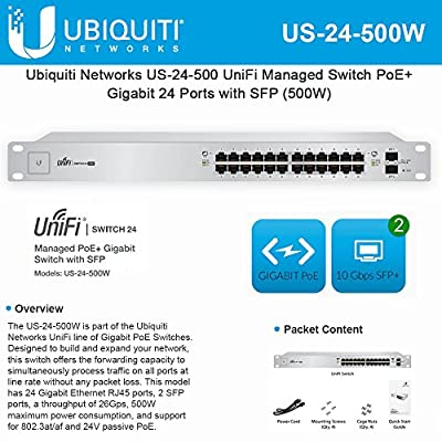 Ubiquiti Networks US-24-500W UniFi 24-ports Switch