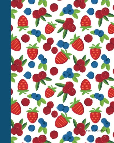 Download Berry Notebook: Large 8 x 10 inches 120 pages Cream Paper Blank Dot Grid Notebook / Planner / Bullet Journal / Sketchbook / Doodling Pad / Lettering / ... (Fruit Passion with Tape Design) (Volume 3) ebook