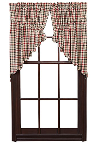 Victory Prairie Swag Scalloped Lined Set of 2 - Swag Victory Pattern