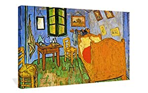 Spirit Up Art The Bedroom by Vincent Van Gogh Oil Paintings Reproduction Canvas Prints Giclee Artwork for Wall Decor, Modern Stretched and Framed for Home Walls Art Print 12 x 16 inches, Ready to Hang
