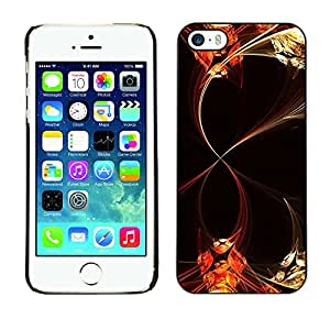 Paccase / SLIM PC / Aliminium Casa Carcasa Funda Case Cover - Abstract Floral Lines - Apple Iphone 5 / 5S