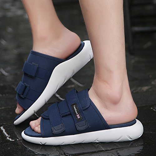 Ocasionales La Transpirables Pie Sandalias Zapatillas Dedo En Los De Ligeras Del Deporte Para 40 Zapatos Verano 015 Hombres Caminar Playa Ellanm Velcro qpSfw