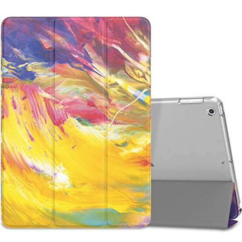 MoKo Case Fit iPad 9.7 5th/6th Generation - Slim Lightweight Smart Shell Stand Cover with Translucent Frosted Back Protector Fit Apple iPad 9.7 Inch 2018/2017ONLY, Painted Sky (Auto Wake/Sleep)