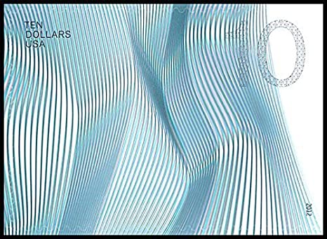 Amazon Com 2012 10 Waves Of Color Blue Gray Single Stamp