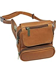 LeDonne Unisex-Adult Leather Traveler Waist Bag, Tan