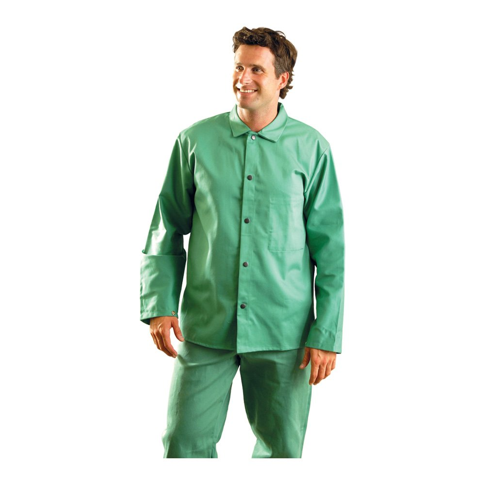 Occunomix Mig Wear Flame Resistant Sateen Jacket 3X Green