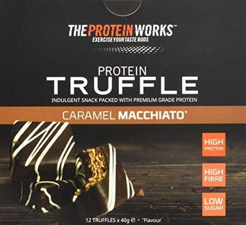 Protein Truffles/ CARAMEL MACCHIATO / von THE PROTEIN WORKS / 12er Box / High Protein, reich an Ballaststoffen und zuckerarm.