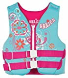 O'Brien Youth Neoprene Vest (Light Blue/Pink, 50-90 - Pound)
