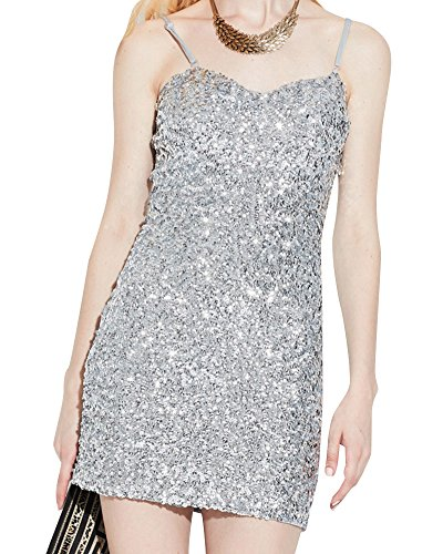 Damen Gatsby Pailletten Partei Cocktail Bodycon Sling Mini Kleid ...