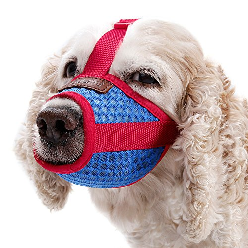 Vitscan Dog Muzzle for Barking, Durable Lightweight Dog Mouth Cover Air Mesh Pet Muzzle for Anti-Biting Anti-Barking Licking, Adjustable & Breathable Dog Muzzle Best for Small Medium Large Dogs (XL)