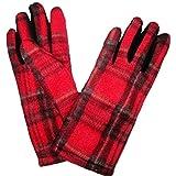 Ladies Winter Warm Gloves in Scottish Red Tartan Royal Stewart