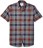 Amazon Brand - Goodthreads Men's Slim-Fit Short-Sleeve Lightweight Madras Plaid S