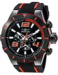 Invicta Mens 20109 S1 Rally Stainless Steel Black and Red Watch