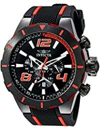 Men's 20109 S1 Rally Stainless Steel Black and Red Watch