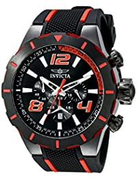 Invicta Men's 20109 S1 Rally Analog Display Japanese Quartz Black Watch