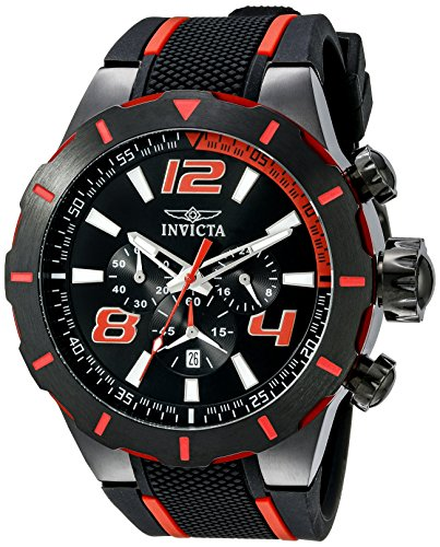 Invicta Men 20109 S1 Rally Stainless Steel Black and Red Watch