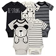 Gerber Baby Boys' 5-Pack Short-Sleeve Onesies,Transportation,6-9 Months