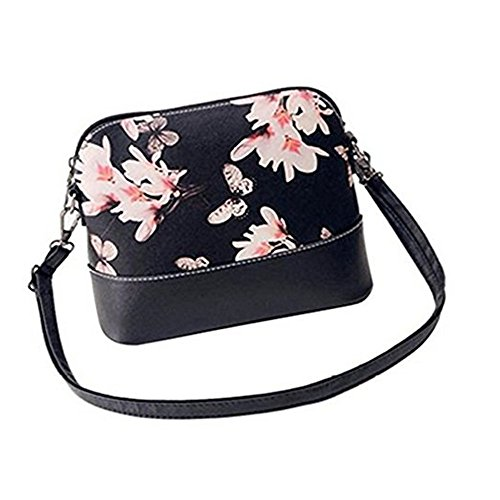 Leather Handbag Tote Bags Vintage Bag Shoulder Small Girls Women Butterfly SN Flower Fashion Flower Messenger vwO07ETqR