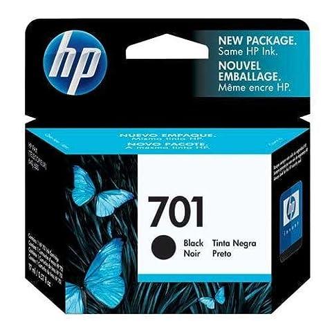 HP 701 Inkjet Cartridge, 350 Page Yield, Black