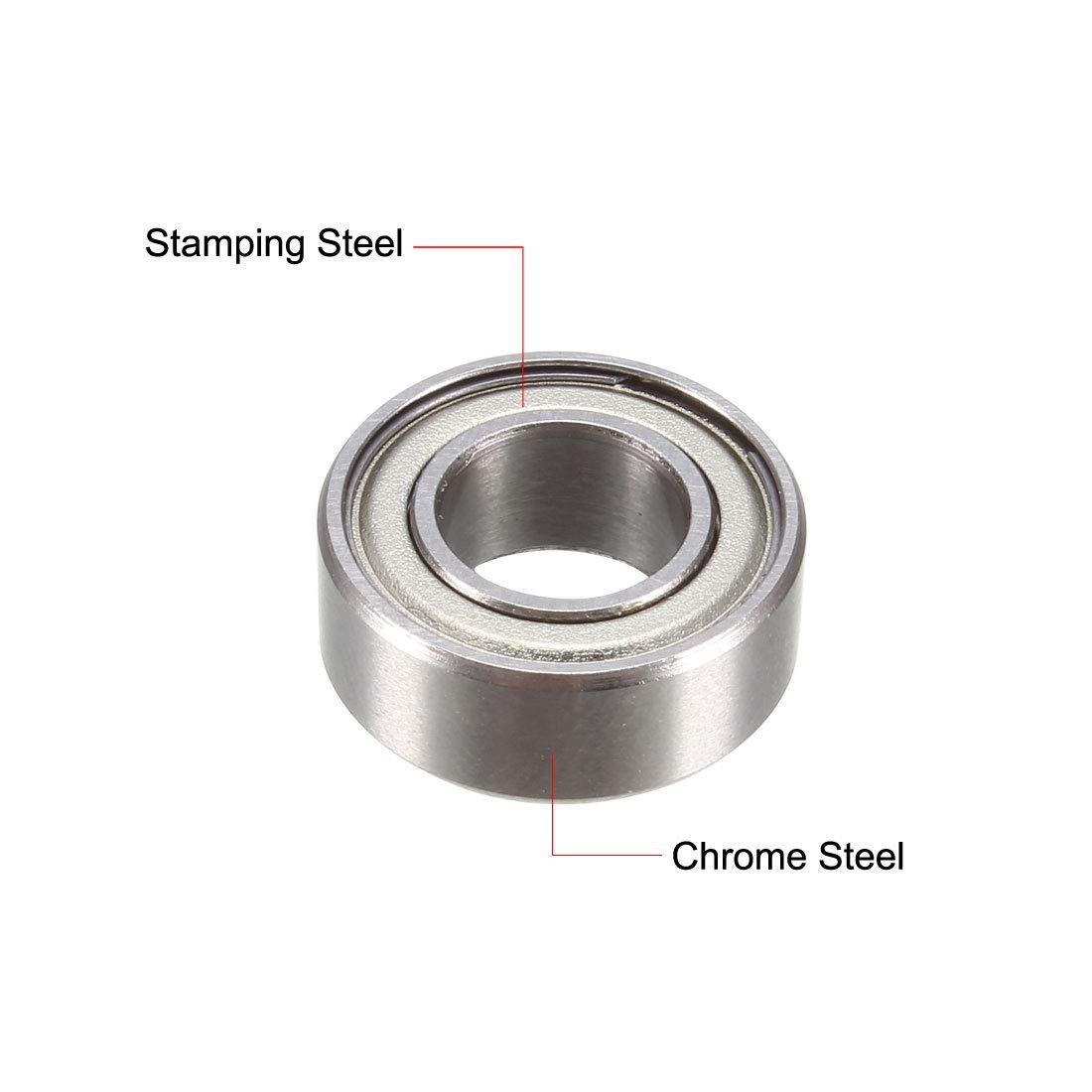 uxcell/® FR188ZZ Flange Ball Bearing 1//4x1//2x3//16 Shielded Chrome Steel Z2 Lever Bearings 5pcs