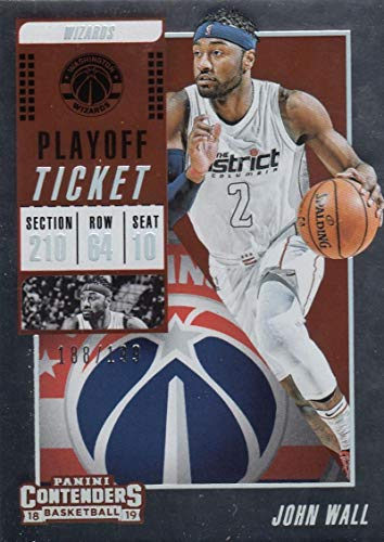- 2018-19 Panini Contenders Playoff Ticket #69 John Wall #69 NM Near Mint 188/199