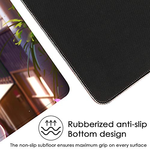 Beymemat Large Gaming Mouse Pad XXL Size (900x400mm) Extended Mouse Mat/Desk Pad with Non-Slip Rubber Base, Special-Textured Surface for Keyboard and Mouse (90x40 owbianzi)