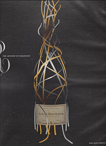 --PRINT AD-- For Louis Roederer Champagne: Ribbon Bottle Scene --PRINT AD-- (Ribbon Bottle)