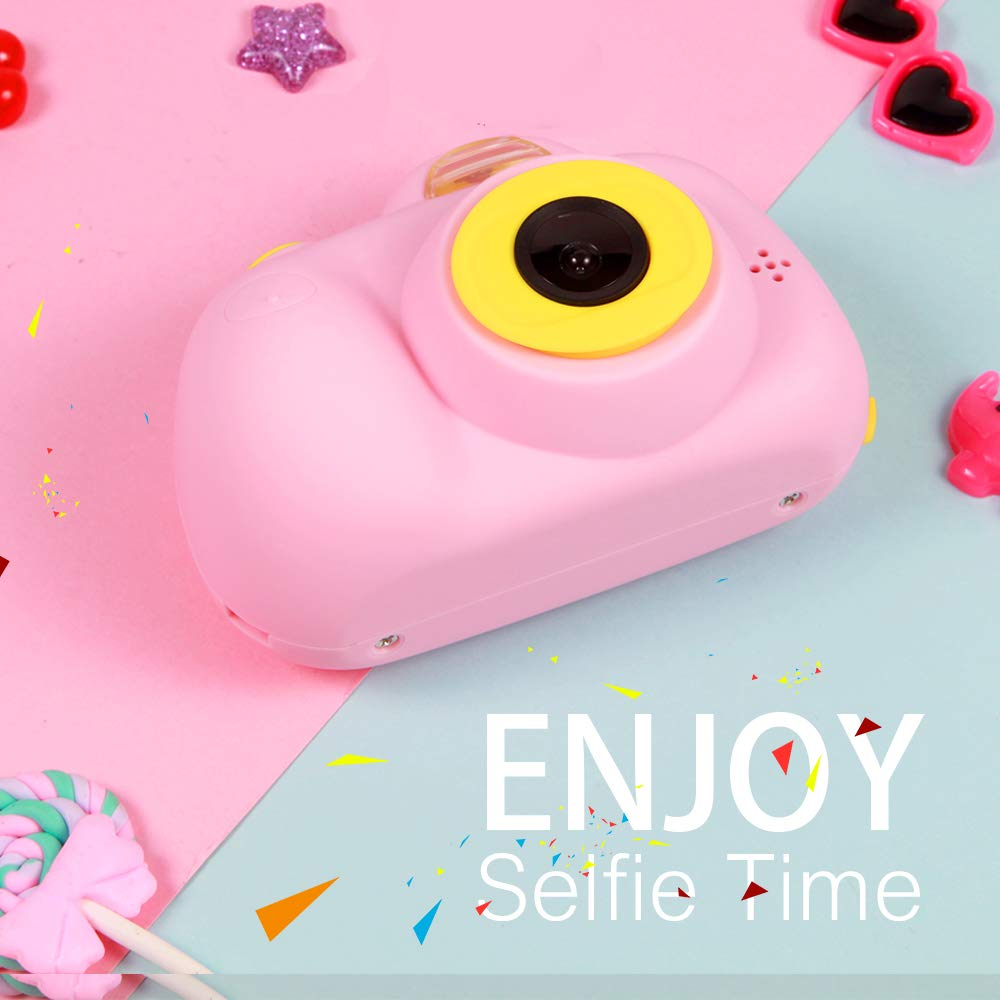 OMWay Best Gifts for 3-8 Year Old Girls, Kids Camera for Girls, Outdoor Toys for 4-7 Year Old Toddlers Boys Children,8MP HD Video Camera, Pink(32GB SD Card Included). by OMWay (Image #7)